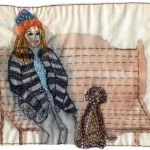 Embroidery, watercolor and appliqué