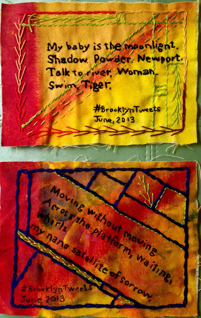 Olisa sent me these colorful painted embroideries with text similar to what I'd captured from the Embroidery Slam.